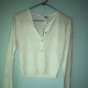 Medium white button down cardigan  NWT